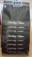 "16 Earring 2""x2"" Black Display Cards 6 holes & Flap for Studs Wires Clip-ons"