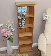 DVD CD  Storage Tower Unit Double Solid Oak Holds 95 DVD'S or 140 CD'S