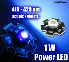 3 Stück 1W Power LED actinic violett UV 410-420nm 350mA Starplatine