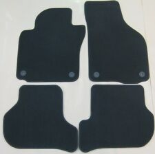 GENUINE VW GOLF MK6 JETTA SCIROCCO LHD BLACK FRONT REAR CARPET MATS SET