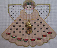 Handpainted Needlepoint Canvas Painted Pony Summer Bounty Angel Charm PP-917