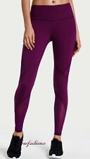 Victoria's Secret Sport Knockout Tight Pants XS Purple Violet Mesh Yoga Gym New