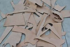 Vegetable Tanned Leather Scrap 12-14 ounce Cow hide 1 Pound Natural Pieces-3