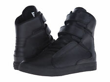 NEW SUPRA SOCIETY II BLACK BLACK SKATE SURF SKATEBOARD HIP HOP SPORTS SHOES 11