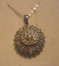 "Diamond Pendant Necklace 20""  74 diamonds  .65tcw MSRP $1124"