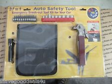 37 IN 1 AUTO SAFETY TOOL EMERGENCY BREAK OUT TOOL KIT