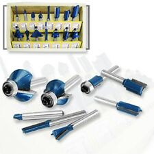 "15pc Router Bit Set 1/4"" Shank Wood Working Power Tools Shop Carbide Tipped"
