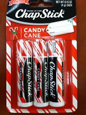 Chap Stick Candy Cane Lip Balm 3 Pack Holiday Christmas Limited Edition Red Whit