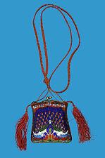 Cloisonne sehr seltene Abend-Tasche mit Pfau (Peacock) China späte Qing-Dynastie