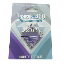 Disneyland 60th Diamond Space Mountain Pin Trading Board Game Completer Pin