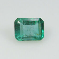 0.80 Ct - Natural Emerald - Zambia - Octagon cut - Unheated - VS-2 - Top luster