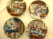 Country Bouqets Series W.S. George Fine China Set of 4 Collector Plates