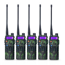 5 PCS BaoFeng UV-5R Dual UHF/VHF Radio Transceiver + 3800mah Battery Ru Stock