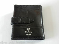 MULBERRY BLACK CONGO LEATHER WALLET 3 PHOTO FRAME