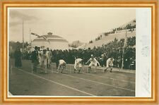 Olympic Games, 1896, preparation for the 100-meter race Sportler Photo M 155