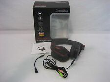 Perixx AX-1000 Black/Red Sound Isolation Gaming Headset w/Detachable Microphone