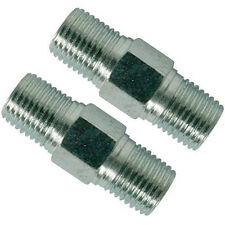 2 PACK Air Line Hose Equal Union Connector Taper Thread 6mm 1/4inch BSP Male