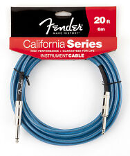 Genuine Fender® California Instrument Cable, 20', Lake Placid Blue 099-0520-002