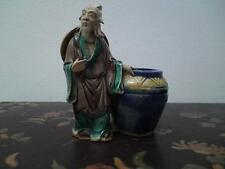 Antique Chinese Shekwan Mudman figurine Sage old man brush pot washer perfect !!