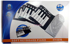 Portable 49 Keys Flexible Roll Up Electronic Piano Soft Keyboard with Speaker