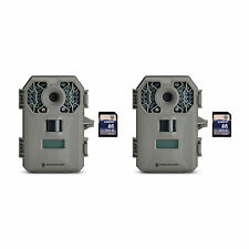 Stealth Cam G30 8MP Infrared Scouting Game Trail Cameras (2 Pack) + SD Cards