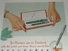 1951 Esterbrook Pens ad, Pen & Pencil set, nib choices