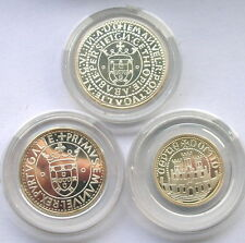 Portugal 1983 XVII Expo European Set of 3 Silver Coins,Proof