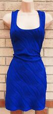 RUCHED WRINKLE BOW BACK BODYCON BANDAGE TUBE PENCIL RARE PARTY DRESS 14 L
