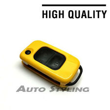 Yellow Key Cover Case for Mercedes Benz Remote Fob 2 Button Hull Bag Skin 72yel