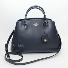 New Coach F34607 Small Margot Carryall In Leather Midnight Navy Purse NWT