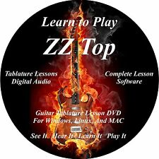 ZZ Top Guitar TABS Lesson CD 70 Songs + Backing Tracks + BONUS!!