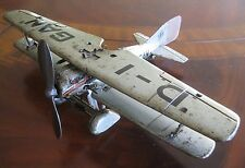 1930's Tippco (Hausser Lineol Elastolin) WWII D-IGAN German Airplane Works Great