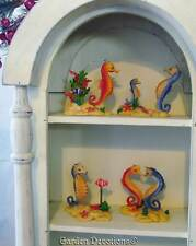 Set of 4 SEAHORSE FIGURINES STATUE Bath Decorations ~ CUTE!
