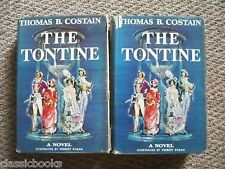 THE TONTINE By THOMAS B. COSTAIN 1955 VOL. I & II  1st True Edition First Issue