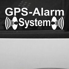 2 Stück GPS Alarm System Warnung gespiegelt innenklebend Aufkleber decal Tuning