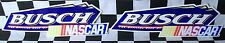 """VERY RARE LOT OF 2 VINTAGE BUSCH BEER NASCAR LARGE 10"""" CAR DECALS / STICKERS!!!"""