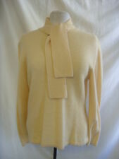 Ladies Jumper - Berkertex, size 14-16, honey, 20% wool/20% angora, tie neck 1648