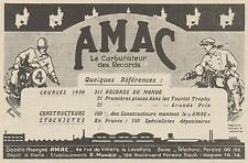 Y9928 AMAC - Carburateur pour motos - Pubblicità d'epoca - 1931 Old advertising