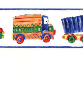 Big Construction Trucks in Primary Colors Wallpaper Border KJ0320BD
