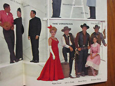 1962 FALL PREVIEW TV Guide(THE VIRGINIAN/COMBAT/BEVERLY HILLBILLIES/McHALES NAVY