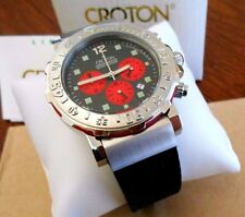 New Mens Croton Chronograph Quartz Watch. Box and Papers