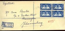 South Africa 1947 Germiston Registered Cover #C10009