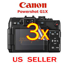 3x Canon PowerShot G1X Camera Clear LCD Screen Protector Guard Shield Film