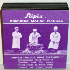 FLIPIX ANIMATED MOTION PICTURE FLIP BOOK When The Pie Was Opened MINT SHACKMAN
