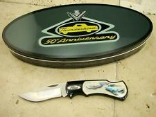 Ford ThunderBird Knife & Pin set Inside Large Tin w/ Art Work - 13 Photos LQQK