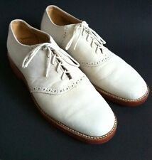 Men's Churchill Ivory Suede Wingtip Oxford Casual Dress Shoes Sz 8.5 N Lace Up