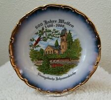 German Plate of St.Johns Evangelical Church Germany Wolfen Parish