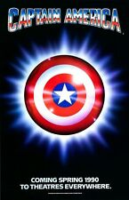 Captain America poster  - 11 x 17 inches - Animated Shield