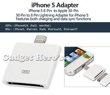 LIGHTNING 8 PIN TO 30 PIN ADAPTER FOR APPLE iPad MINI / iPod TOUCH 5 / iPhone 5