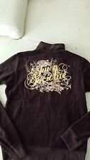 AUTH Juicy Couture VELOUR Depp track jacket size m   $138  BROWN